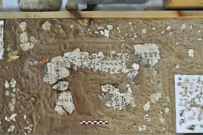 Fig. 7 - Inscription datant du règne de Djedkarê-Isesi placée à l'entrée de la galerie G1.